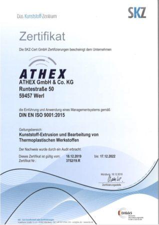 ISO Zertifikat ATHEX